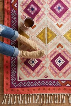 Kaleidoscopic Blooms Rug - anthropologie.com #anthrofave