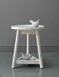 Trend: Marble, Bethan Gray's marble side table at Design Junction