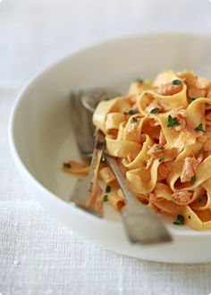 "Smoked Salmon Pasta--""The Little Black Dress of Dinner"""