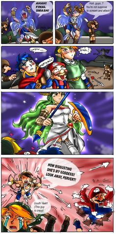 Pit Is VERY Overprotective Find This Pin And More On Kid Icarus Uprising