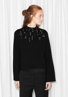 & Other Stories | Embellished Merino Wool Sweater
