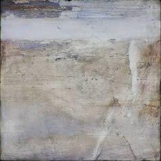 Dimensions : 80x80 cm MDF enduit, collage de papier fin travaillé à la poudre de marbre, sépia, blancs (poudre de marbre, blanc de t...