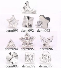 Sterling Silver Internally Threaded Various Style Ends - Pick Your Style :: Dermal Anchor Tops :: MicroDermal Anchors :: Painful Pleasures, Inc. Labret Jewelry, Body Jewelry Piercing, Dermal Piercing, Jewelry Tattoo, Piercing Tattoo, Daith, Love Tattoos, Body Art Tattoos, Cute Piercings