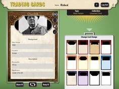 Create Trading Cards for Historical and Fictional People, Places, and Events