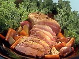 Beer Braised Corned Beef with Red Potatoes and Carrots Recipe - best corn beef recipe I've ever made!
