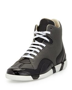 Collage Mesh High-Top Sneaker by Maison Martin Margiela at Neiman Marcus. 51d3848bc21e