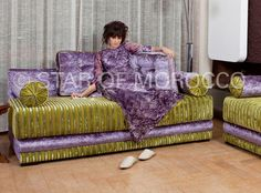 Extravaganza Purple Green Moroccan Sofa!