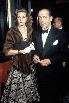 Hubby and wife, Humphrey Bogart and Lauren Bacall.