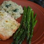 Pinterest Meal #3: Parmesan Crusted Salmon and Quinoa-Spinach Pilaf