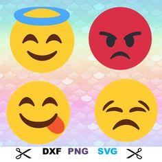 Emoji Monogram Svg Monogram Font Svg Alphabet Cut Files Silhouette Studio Cricut Svg Dxf Png by ScorpionOils on Etsy