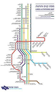 רכבת ישראל - מפת קווים ותחנות