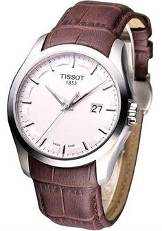 2b3e2d325cd Tissot T0354101603100 T-Trend Couturier Silver Dial Men Leather Watch