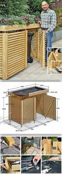 Garden Store Plans - Outdoor Plans and Projects - Woodwork, Woodworking, Woodworking Plans, Woodworking Projects Outdoor Projects, Garden Projects, Diy Projects, Pallet Projects, Woodworking Projects Diy, Woodworking Plans, Woodworking Techniques, Bin Shed, Outdoor Living