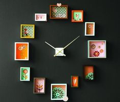 clock photo frames