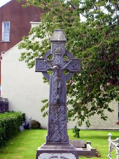 Gravestone in the church yard at O'Connell Memorial Church in Cahersiveen, Ireland