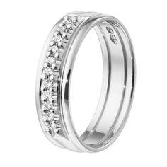 Kalevala Koru / Kalevala Jewelry / Sateenkaari-sormus 11 x 0,01 ct / 18K valkokulta tai keltakulta / #sormuskertootarinaa