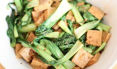 Marinated tofu with bok choy
