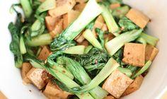 Marinated tofu with bok choy