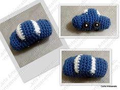 carrinho em crochet