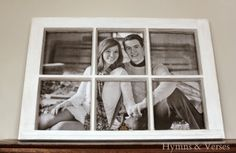 How to Turn an Old Window into a Photo Frame
