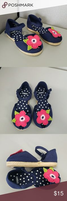 Gymboree Blooming Nautical Espadrille Sandal Peep toe Sandal for girls. Size 7. New without tags. Gymboree Shoes Sandals & Flip Flops