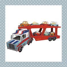 Deze vrachtwagen met oplegger rijdt zo alle cupcakes binnen op een verjaardag! Er zitten 8 autootjes bij. Vergeet niet op de toeter te drukken als je een cakeje neemt, er zijn 3 verschillende geluiden! Als de verjaardag voorbij is, kun je de vrachtwagen óf weer inpakken óf gebruiken als speelgoed. http://dekinderkookshop.nl/product/vrachtwagen-cupcakehouder/