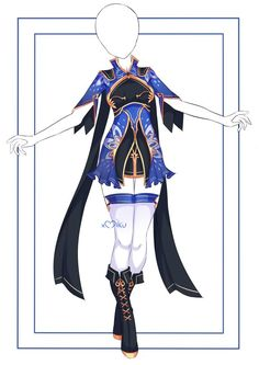 Clothing Sketches, Dress Sketches, Manga Clothes, Drawing Clothes, Fashion Design Drawings, Fashion Sketches, Other Outfits, Cool Outfits, Warrior Outfit