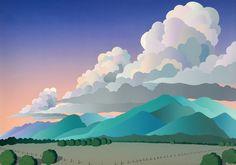 Doug West paintings available from Leslie Levy Fine Art Fantasy Landscape, Landscape Art, Landscape Paintings, Fantasy Art, Landscapes, Creative Illustration, Digital Illustration, Southwestern Art, Desert Dream