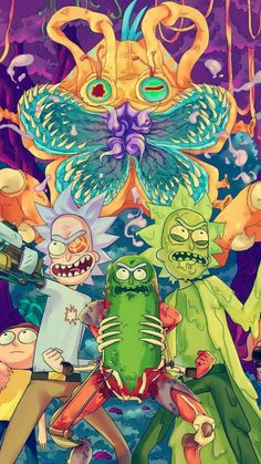 17 Trendy Wall Paper Iphone Trippy Rick And Morty Trippy Rick And Morty, Rick And Morty Drawing, Rick I Morty, Graffiti Wallpaper, Cartoon Wallpaper, Iphone Wallpaper, Cartoon Shows, Cartoon Art, Rick Und Morty Tattoo
