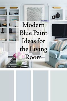 Modern Blue Paint Ideas for the Living Room