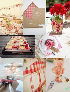 Red Gingham Wedding Ideas from The Wedding Community