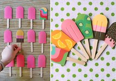 DIY Paper Popsicle Memory Game by Eat Drink Chic - Free printable download - This is very cute and I love the colorful designs!