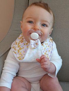 Pacifier Bib-Binky Bib-Baby Girl-Brambleberry Ridge-Lilac or Peach Shimmer Reflection