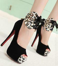 Wholesale Pretty & Trendy Tieback High-heeled Peep Toe Shoes----Black top dresses