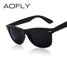 89c7eea8ec4 AOFLY Fashion Sunglasses Men Polarized Sunglasses Men Driving Mirrors  Coating Points Black Frame Eyewear Male Sun