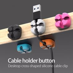 Desktop Fixed Line Clip Colorful Wire Holder Finisher Multi-Function Line Card