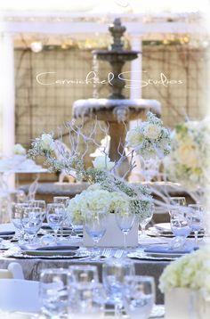 Winter white frosty wedding Created by: Flower Bar