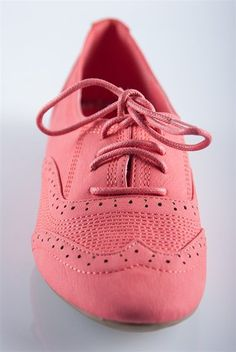 Super Stitched Oxfords - Coral from Casual & Day at Lucky 21 Lucky 21