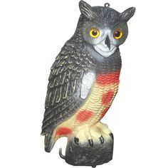 43cm Garden Protection Pest Repellent Bird Scarer Artificial Resin Owl Courtyard Landscape Ornament
