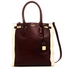 The Carlyle Block Tote Burgundy, $450, now featured on Fab.