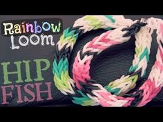 Rainbow Loom HIP FISH (Half Inverted Double Cross Fishtail). Designed and loomed by SoCraftastic. Click photo for YouTube tutorial. 03/19/14