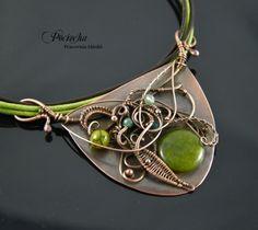 Aenarion - #pendant with #dragon #agate (by Pracownia miedzi - Pociecha), you can buy in DecoBazaar.com