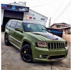 Matte green SRT8 Cherokee