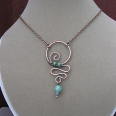Copper Wire Jewelry Designs - Bing Images by wanting Copper Wire Jewelry, Wire Jewelry Designs, Wire Wrapped Jewelry, Jewelry Crafts, Jewelry Art, Beaded Jewelry, Hammered Copper, Jewelry Ideas, Jewlery