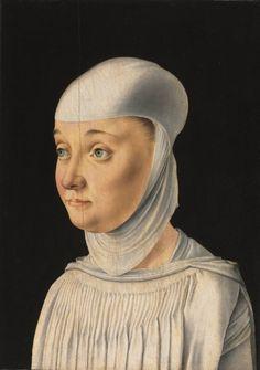 Portrait of a Woman, Possibly a Novice of San Secondo, c. 1490 Jacometto Veneziano (Italian)