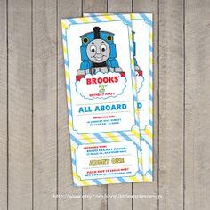 Items Similar To Thomas Train Invitation Ticket Birthday The Tank Engine On Etsy