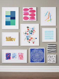 Fill A Wall With Art You Make Yourself! HGTV Magazine Walks You Through The  Steps For Nine Easy DIY Wall Art Projects.