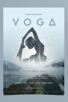 design Yoga Flyer Template PSD Buying A New Watch It is unwise to purchase a non-branded watch. Poster Sport, Poster Cars, Poster Retro, Gig Poster, Layout Design, Graphisches Design, Creative Design, Logo Design, Flyer Design Inspiration