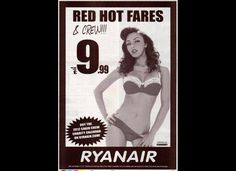 "#banned ads   The ASA banned these Ryanair ads in February 2012, deeming them too ""sexually suggestive"" to run in newspapers."
