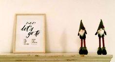 """Affiche """"F**k it, let's go to"""" chez Rosetta // Poster per viaggiatori incalliti """"F**k it, let's go to"""" a casa di Rosetta"""